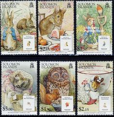 Beatrix Potter British postage stamps, 2006 --  Country -	Solomon Islands