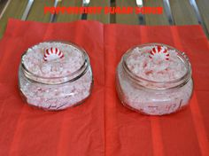 This was a big hit! DIY Peppermint Sugar Scrub. Uses peppermint candies. Substitute a few drops of peppermint oil for the peppermint extract.