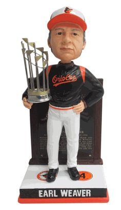 Earl Weaver (Baltimore Orioles) 1970 World Series Champ Trophy Hall of Fame Plaque Base Cooperstown Collection Exclusive #/300