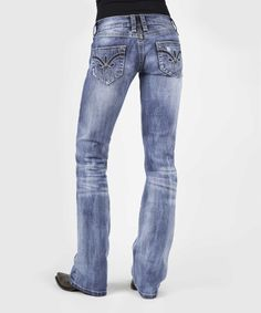 Look at this Stetson Light Blue Three-Loop Bootcut Jeans - Women on #zulily today!