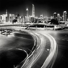 In beeld: Wereldsteden bij nacht - Shanghai