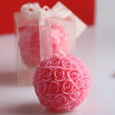 10PCS Wedding Favors Party Valentine's Gifts Bridal Shower Rose Ball Candle -- Check this useful article by going to the link at the image. #SpecialtyCandles