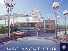 Msc Cruises, Yacht Club, Decks, Mansions, House Styles, Jacuzzi Bathtub, Private Pool, Lush, Patio