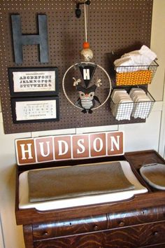 LOVE the pegboard idea... great for storing books, toys, decorations, etc.