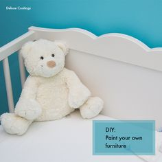 If you are preparing for a new baby's arrival you could be using a hand me down crib or re-using a first baby's crib. Slap on a coat of paint and make it look as good as new. Follow our blog for easy instructions.