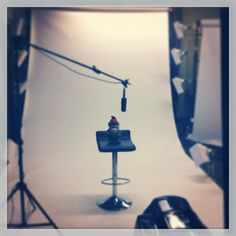 Poe the blog gnome doing a commercial #commercial #studio #bloggnome #gnome #blog #advertising