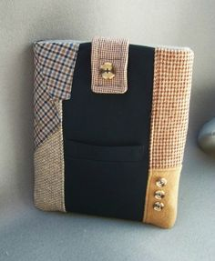 Love this recycled men's suit iPad case!
