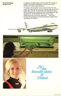 United Airlines B747 introduction brochure 1970