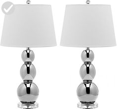 Safavieh Jayne Three Sphere Glass Lamp, Set of 2 - Improve your home (*Amazon Partner-Link)