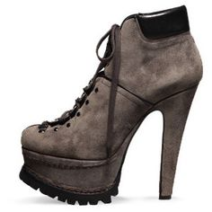 "<3:  Azzedine Alaïa Tractor-Sole ""Hiking"" Boot"