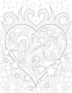 Creative Haven Magnificent Mehndi Designs Coloring Book / Artwork by Marty Noble Skull Coloring Pages, Heart Coloring Pages, Pattern Coloring Pages, Printable Adult Coloring Pages, Cute Coloring Pages, Doodle Coloring, Coloring Pages To Print, Coloring Books, Coloring Sheets