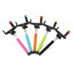 3.5mm Selfie Telescopic Monopod With Shutter Button For Cell Phone