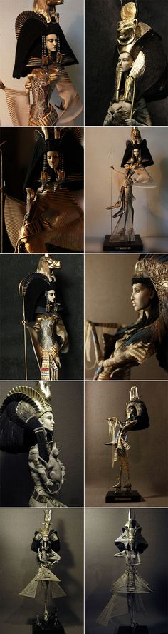 Beautiful Egyptian figurines by Katya & Lena Popovy.  www.popovy-dolls.com