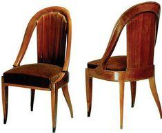 art deco design chair CR108 by Jacques-Emile Ruhlmann POLLARO
