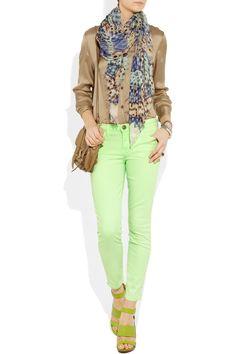 current elliot mint green skinny jeans for spring