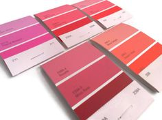 Mini Paint Chip Notebooks Shades of Pink Matchbook by MadebyMegToo, $7.50