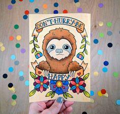 This sloth print for some slothspiration. | 37 Sloth Items To Help You Live A Sloth Life