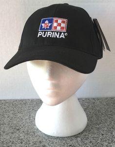 Purina Black Hat Cap Adjustable New NWT Fersten Worldwide  #Purina #BaseballCap