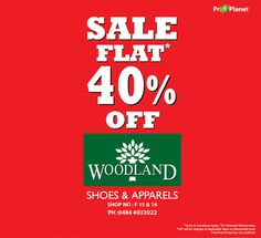 Here's a great excuse to go shopping. Get a 40 % off on your purchase at ‪#‎Woodland‬'s at ‪#‎LuLuMall‬. Hurry!