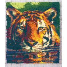Water Tiger Latch Hook Rug Kit - holy crap do i want this