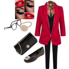 Conference by manal-bilal on Polyvore featuring polyvore, fashion, style, Armani Collezioni, Tory Burch, River Island, Larke and Gottex
