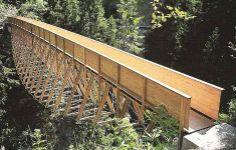 traversina wood bridge