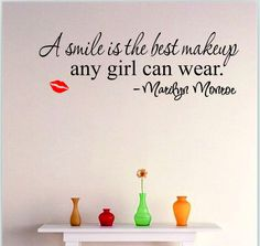 Smile Makeup Marilyn Monroe Quote Vinyl Wall Stickers Art Home Decor Decal FS in Home & Garden, Home Décor, Decals, Stickers & Vinyl Art | eBay