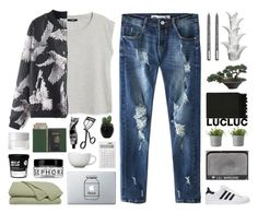 """""""lucluc 1"""" by randomn3ss ❤ liked on Polyvore featuring MANGO, NARS Cosmetics, SUQQU, Muji, Rig-Tig by Stelton, Arabia, Surya, Sephora Collection, Surratt and Royce Leather"""