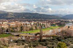 Florence And Arno River di eZeePics Studio, foto stock royalty free #48702628 su Fotolia.com