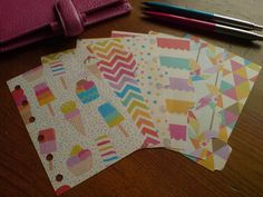 Summer Fun! Pocket Dividers - 6 tabs :) Fits Filofax.