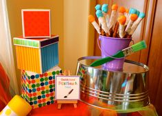 Art Birthday Party Ideas | Photo 9 of 46 | Catch My Party