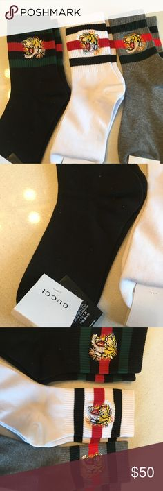 Gucci socks Brand new with tags . Authentic. One size fits all Gucci Underwear & Socks Casual Socks
