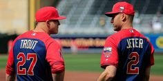 """""""He just wanted to thank us. You know, we should be thanking him."""" -Mike Trout on Derek Jeter's pregame speech"""