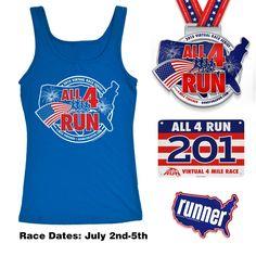 All 4 Run Virtual 4 Mile Race (Basic Entry)