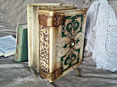 antique old book box Adisa Lisovac Decoupage