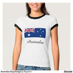 Australia Flag Design T Shirts