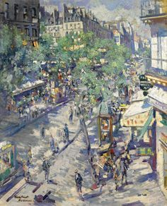 Konstantin Korovin - The Boulevard of Sevastopol, Paris, 1923