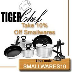 ONE MONTH ONLY! Did you know that during the month of August you can get 10% off on purchases of smallwares at TigerChef.com? Use coupon code: SMALLWARES10 at checkout.