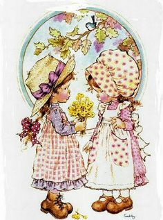Sarah Key, Sarah Kay Imagenes, Holly Hobbie, Illustrations, Cute Illustration, Cute Cards, Vintage Cards, Paper Dolls, Cute Pictures