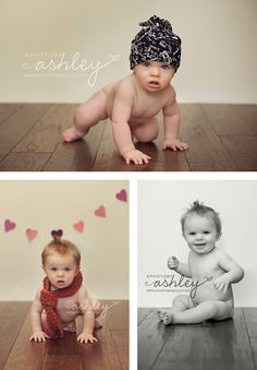 8 Month Old Session Valentines Day - Cute scarf!
