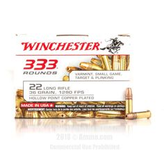 Winchester 22 LR Ammo - 333 Rounds of 36 Grain CPHP Ammunition #Winchester #WinchesterAmmo #22LRAmmo #22LR #CPHP