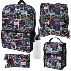 Star Wars 5-pc. Backpack, Lunch Box & Accessory Set  #StarWars #5PieceBackpackSet