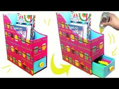DIY Papelão - Organizador Home Office - Segredos de Aline - YouTube Diy Recycle, Recycling, Home Office, Toy Chest, Storage Chest, Projects To Try, Happy Birthday, Bags, Home Decor