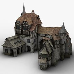 Medieval Warehouse Model available on Turbo Squid, the world's leading provider of digital models for visualization, films, television, and games. Fantasy Town, Fantasy House, Fantasy Map, Medieval Fantasy, Medieval Houses, Medieval Town, Medieval Castle, Minecraft Medieval, Minecraft Houses