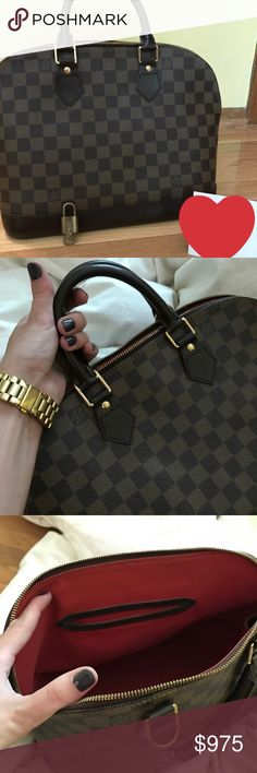 """Louis Vuitton Alma Pm Date Code: FL0086, Measurements: 12"""" x 9.5"""" x 6.5"""", Alma PM Damier Ebene, good condition, small stains interior, light scuffs on exterior, comes with lock and key, no dustbag or box Louis Vuitton Bags Satchels"""