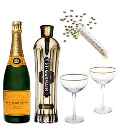 The Sparkling Melange, a creation of the Ritz Carleton in Georgetown. Mix equal parts Veuve Clicquot and St. Germain. Yum! Via The Pursuit of Style blog.