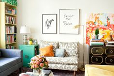 perfect cozy & eclectic apartment living room