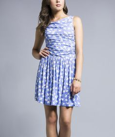 Look what I found on #zulily! Blue Dove Ruched Sleeveless Dress by Leota #zulilyfinds