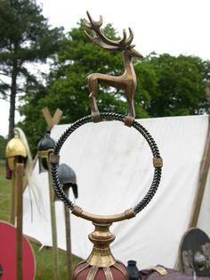 Replica of Sutton Hoo scepter.