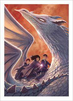 [Arte e Design] Arte das Capas Originais dos 7 Livros da Série Harry Potter | PopHD Harry Potter and The Deathly Hallows by Kazu Kibuishi >> veja mais em www.pophd.com.br